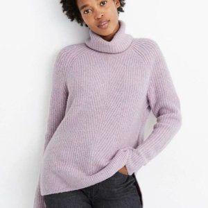 MADEWELL Purple Mercer Yarn Turtleneck Sweater